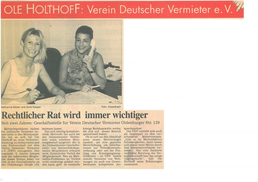 Presse Immobilien Hausverwaltung Delmenhorst